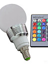 3W E14 LED-globlampor 3 lm RGB Dimbar / Fjärrstyrd / Dekorativ AC 100-240 V 1 st