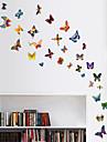 vägg klistermärken väggdekaler stil färg fjäril pvc väggdekorationer