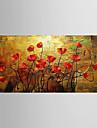 Peint a la main Nature morte A fleurs/Botanique Panoramique Horizontale,Moderne Un Panneau Toile Peinture a l\'huile Hang-peint For
