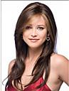 vackra långa brunmelerad rakt hår peruk kvinnor syntetiska peruker fri frakt