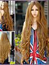 puntos en el flequillo largo a largo peluca de pelo rizado 1m volumen de aire de largo