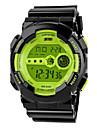 Da uomo Guarda Quarzo giapponese Orologio sportivo LCD / Calendario / Cronografo / Resistente all\acqua / allarme Gomma BandaOrologio da