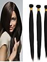 """3pcs lot 10 """"-24"""" cheveux soyeux bresilienne vierge sraight naturel noir tisse"""