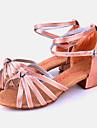 Chaussures de danse(Autre) -Non Personnalisables-Talon Bottier-Satin-Latine