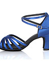 Customizable Women\'s Dance Shoes for Latin/Salsa in Blue