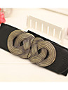 Women Fashion Elastic Belt Party/Casual Leather Faux Leather Wide Belt