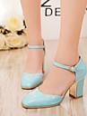 Women\'s Shoes Heel Heels / Square Toe Heels Office & Career / Dress / Casual Black / Blue / Pink