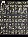 1x 108 st 3d guld blommor nail art klistermärken dekaler för nail art klistermärken