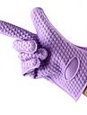 1pcs silicone maniques isoles gants outils de cuisson (couleur aleatoire)