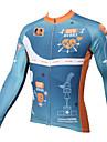 PALADIN® Cykeltröja Herr Lång ärm CykelAndningsfunktion / Snabb tork / Ultraviolet Resistant / Kompression / Lättviktsmaterial / Back