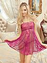 Feminin Lenjerie din Dantelă / Ultra Sexy Pijamale Dantelă Solid Violet