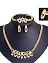 Modern flicka kvinnor mode söta söta smycken kostymer