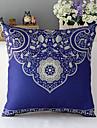 lantlig stil traditionell porslin mönstrad bomull / linne dekorativa kuddöverdrag