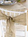 Wedding Décor 10 Meter Burlap Wrap Jute Cloth for  Decoration Chair Sash (10cm Width*10 Meter)