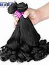 """3 st / lot 14 """"-22"""" 7a brasilianska jungfru hår päron blomma hårförlängningar 100% obearbetat remy människohår väver"""