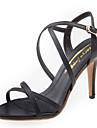 Sandal ( Svart/Beige ) - till KVINNOR Stilettklack - Klack - i Läder