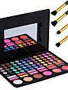 78 färger pro kosmetiska smink pigmentsats ögonskugga rouge palett läppglans verktyg + 4st penna makeup borste