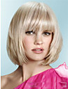 les nouveaux arrivants a moyen bob court decotes environ 8inches blond parfait cheveux synthetiques perruque Livraison gratuite