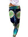 Damă DreptMicro-elastic Blugi Pantaloni Imprimeu