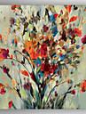 OElgemaelde abstrakten Blumenmalerei Hand bemalte Leinwand mit gestreckten umrahmt fertig zum Aufhaengen