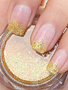 Golden Glitter Powder Nail Art Decorations