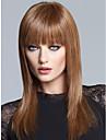 sin tapa de alta calidad a largo mono top remy virginal pelucas de cabello humano rectas 7 colores para elegir