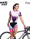 SANTIC® Cykeltröja med shorts Dam Kort ärm Cykel Andningsfunktion / Snabb tork Tröja / Cykeltröja + shorts / Byxa / Klädesset/Kostymer