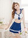 Matchande bustier/Ultrasexig/Uniform/kinesisk klänning Natt Dam Bomullsblandning/Spets/Nylon