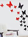 12 st 3d fjäril plastvägg klistermärken väggdekaler