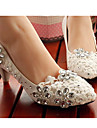 2016 New Arrivals Women\'s Shoes Best Seller Leather Low Heel Heels/Round Toe Pumps/Heels Wedding/Party & Evening White