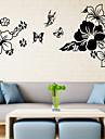 3d väggdekorationer väggdekaler stil fjärilar i blommorna pvc väggdekorationer