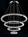 Modern LED Pendant Light Clear Crystal Ceiling Chandeliers Lighting Lamp with D100CM+D80CM+D60CM+D40CM CE FCC UL