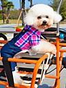 Pisici / Câini Tricou / Pantaloni Verde / Albastru / Trandafiriu Îmbrăcăminte Câini Primăvara/toamnă Tartan/Carouri / BlugiNuntă /