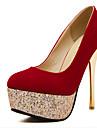 Women\'s Shoes  Stiletto Heel Heels Pumps/Heels Casual Black/Red
