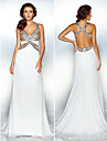 TS Couture® Formal Evening Dress - Beautiful Back Plus Size / Petite Sheath / Column Halter / V-neck Sweep / Brush Train Chiffon withCrystal