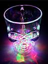 hög kvalitet kreativa induktion färgglad flash skull kopp vatten (400ml slumpmässig färg)