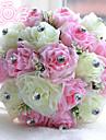 """Flori de Nuntă Rotund Trandafiri Buchete Nuntă Poliester Satin Mărgea Spumă 7.09""""(Approx.18cm)"""