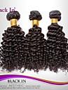 "3 st mycket 12 ""-30"" brasilianska kinky curl inslag naturligt svart remy människohår väv trasselfri"