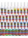 Solong tatuering bläck 40 färger inställd 5ml / flaska tatuering pigment kit