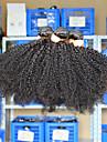 3 st / lot10-26 eurasiska virgin hår afro kinky lockigt naturliga svarta obearbetade människohår väva buntar härva gratis