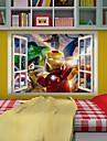väggdekorationer väggdekaler, 3d superhjältar Iron Man pvc vägg klistermärke