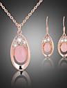 Laiton/Alliage/Zircon Cubiques/Rose Plaque Or/Cristal Vintage/Soiree pour Femme