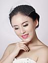Damen Netz Kopfschmuck-Hochzeit Netzschleier 1 Stueck