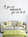 perete autocolante de perete stil decals Dacă puteți cuvinte în limba engleză&citate autocolante de perete pvc