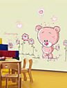 paroi amovible autocollants ours mignon chambre chambre muraux autocollants pour enfants de bande dessinee