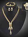 Seturi de bijuterii La modă Bijuterii Statement Lung Placat Auriu Diamante Artificiale Bijuterii Auriu PentruPetrecere Ocazie specială Zi