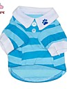Cat / Dog Shirt / T-Shirt Red / Blue Dog Clothes Summer Stripe Wedding / Cosplay