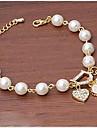 Alliage/Platine/Vermeil/Strass/Imitation de perle Mignon/Soiree/Travail/Informel pour Femme