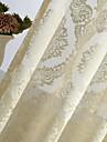En panel Rustik / Modern / Nyklassisistisk / Europeisk / Designer Blommig/Botanisk Elfenben Bedroom Polyester Sheer gardiner Shades