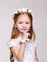 Flower Girl\'s Polyester Headpiece Bracelet - Wedding/Casual/Outdoor Wreaths 2 Pieces